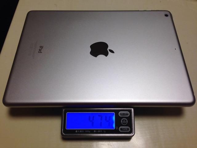 キッチンスケールでiPad-Airの重さを測ってみた