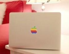 Apple MacBook air 13 対応 レインボー アートステッカー 保護 シール カバー ~一瞬にあなただけの オリジナル に様変わり~