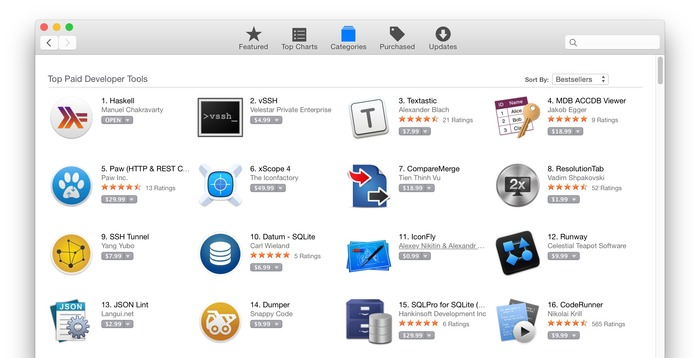 Haskell-for-Mac-Mac-App-Store-ranking