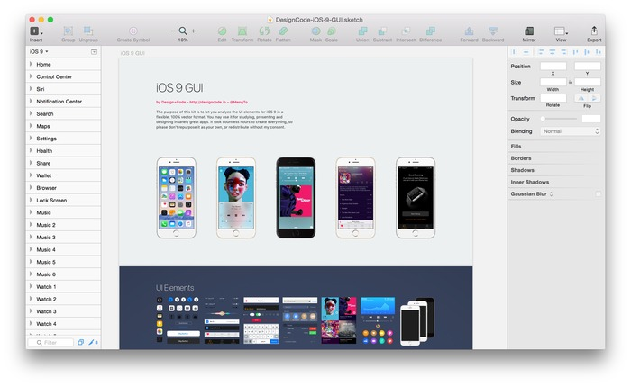Design_Code-iOS9-GUI-for-Sketch