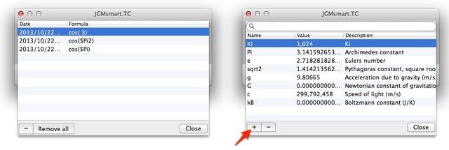 Type Calculateは定数を追加できます