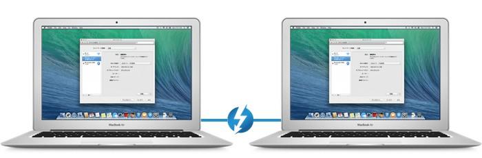 MacBook Air 2台を Thunderboltケーブルで繋ぐ