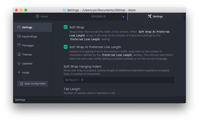 Atom-Soft-Wrap-At-Preferred-Line-Length-Settings