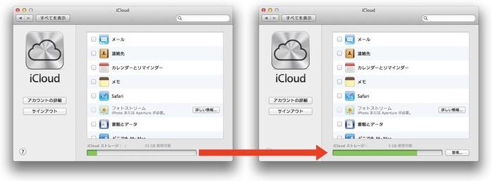 MobileMeユーザーへのiCloud20G無料ストレージ終了