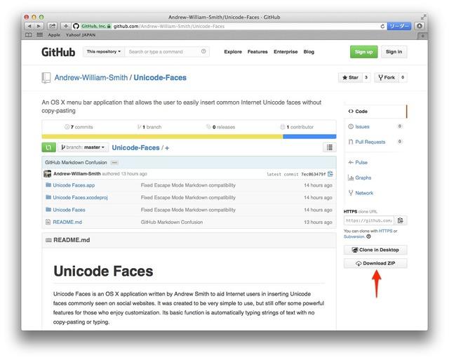 Unicode-Faces-github