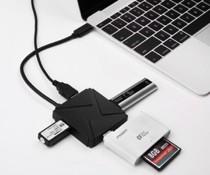 【KuGi】 Type C USB 3.1 Hub 超高速データ転送 usb 3.1 type-c 4ポート USB ハブ 変換アダプタ USB 3.0/2.0に互換性有 ( The New MacBook 12 インチ , Surface Pro 4 等対応) (Type C USB 3.1 ハブ, ブラック)