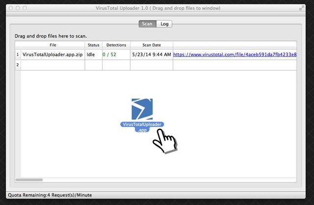 VirusTotal-Uploader-OS-X-SS