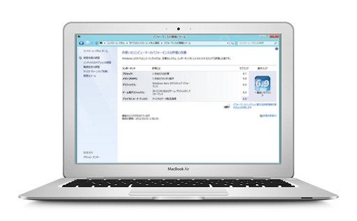 MacBook Air Mid 2013にWindows8インストールしてエクスペリエンスインデックスを測ってみた