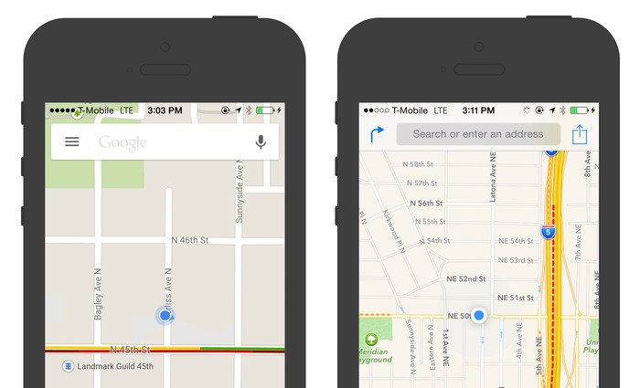 Google-Apple-Map-App