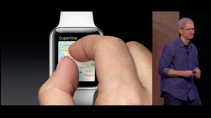 Apple Watchの様な小さいディスプレイではiPhoneの様な操作は無理
