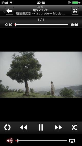 jpアプリでミュージックビデオ再生