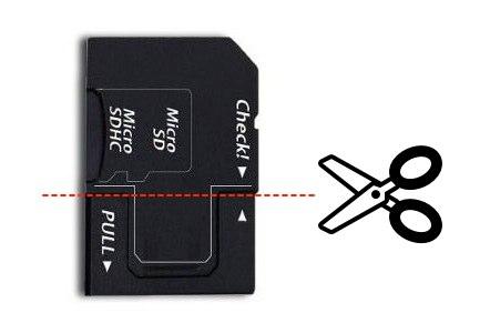 CR-MD03のUSB端子側を切る