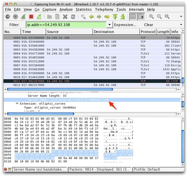 Adobe-Adobesc-Amazon-Web-Services-Wireshark