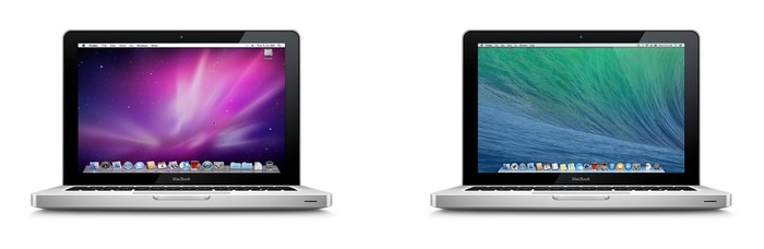 MacBook (13-inch, Aluminum, Late 2008) OS X 10.6 SnowLeopard v.s. OS X 10.9 Mavericks