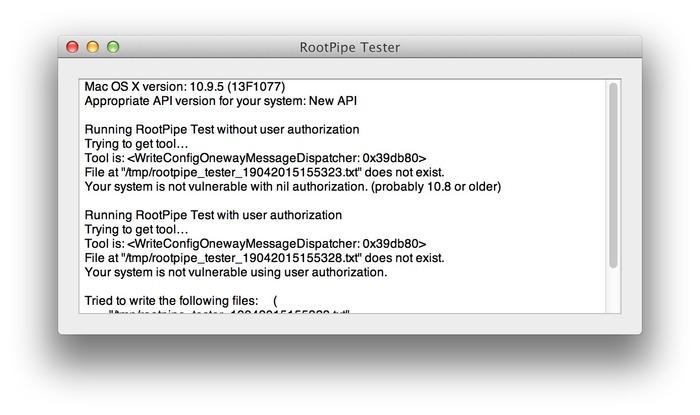 RootPipe-Tester-StartTest-Result