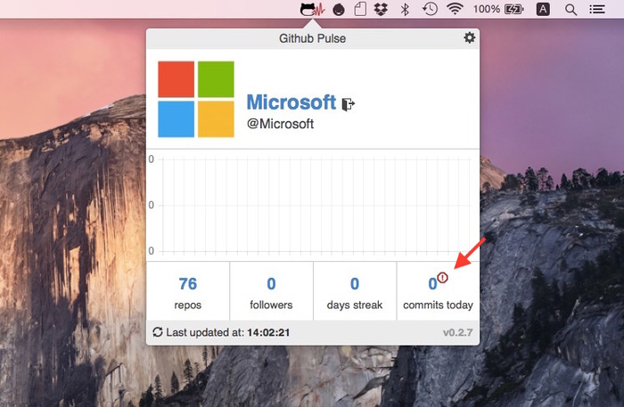 Github-Pulse-Microsoft-red