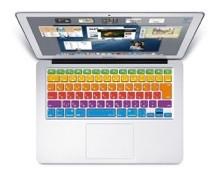 [MS factory/RMC series] 日本語 キーボードカバー (JIS配列) 〈 for MacBook Air 13/Retina 13,15インチ用〉 《RMC オリジナルカラー 》 レインボー カラー RMC-KEY-ARRBW