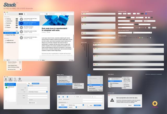 OS-X-Yosemite-GUI-PSD-set