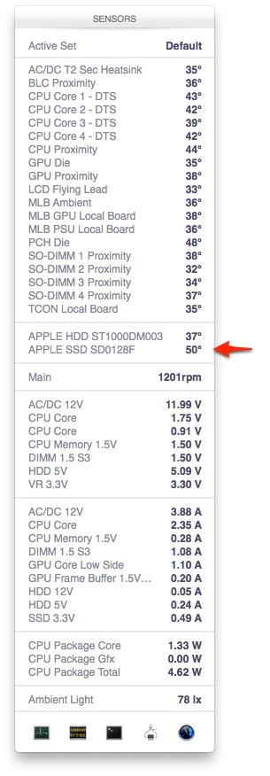 iMac-Late-2013-FusioDriveのSSD温度
