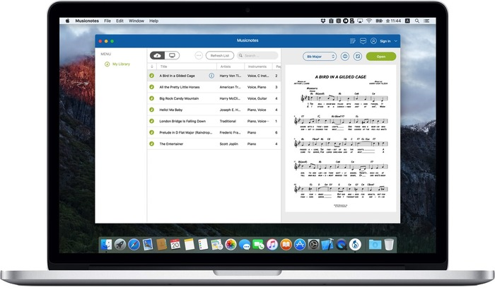 Musicnotes-on-MacBook