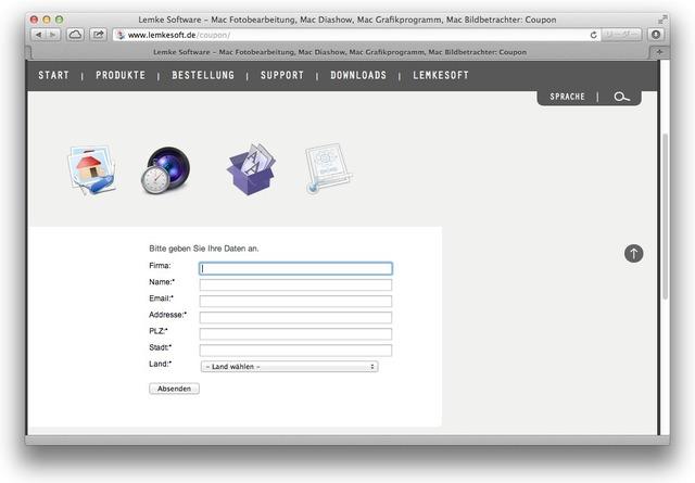 GraphicConverterのアカウント登録