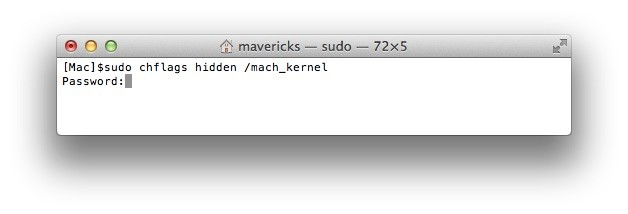 sudo-chflags-hidden-mach_kernel