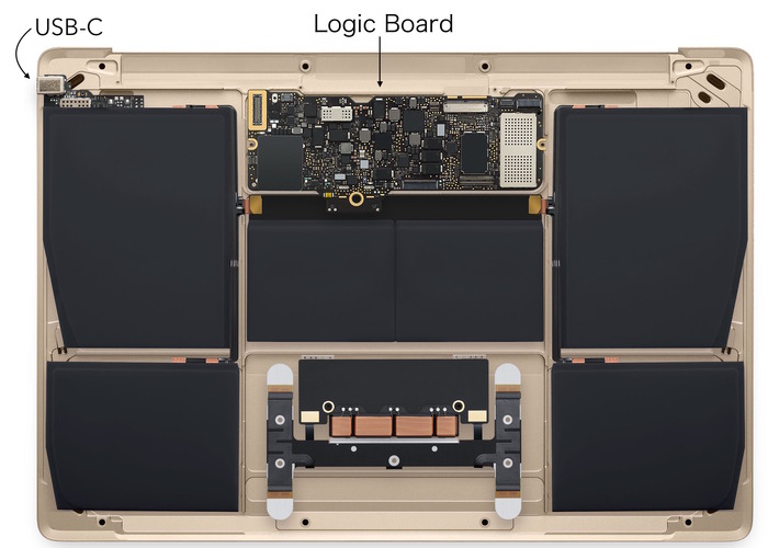 MacBook-Early2015-Logic-Board-USB-C-Port