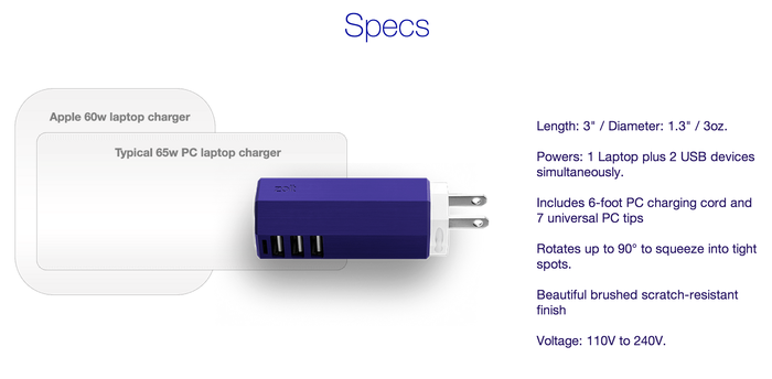 Zolt-Power-Adapter-Specs