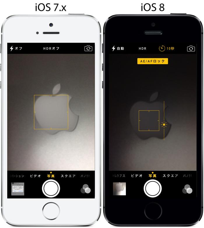 iOS7-iOS8-カメラ