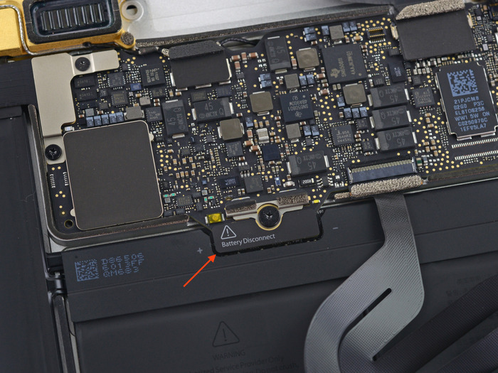 MacBook-Early2015-Battery-and-Logicboard-connecter