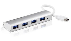 【KuGi】 USB 3.1 Hub  超高速データ転送 超薄 アルミニウム合金 usb 3.1 type-c 4ポート3.0 USB ハブ 変換アダプタ USB 3.0/2.0に互換性有 ( The New MacBook 12 インチ , Surface Pro 4 等対応) (Type C USB 3.1 ハブ, シルバー)
