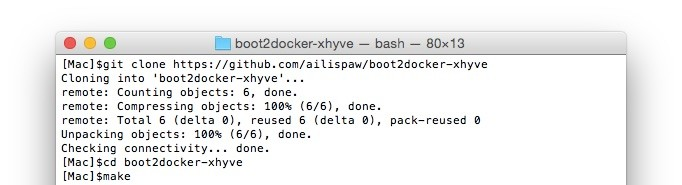 boot2docker-xhyve-make