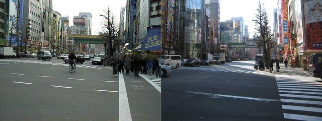 大黒屋のとこはエアコン屋、ムーランAKIBA中央通り店はアジア無線の後のソフマップ13