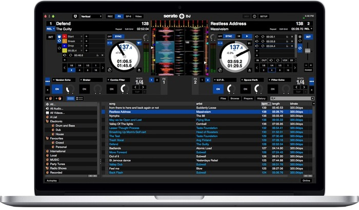 Serato-Serato-DJ-1d8-on-MacBook