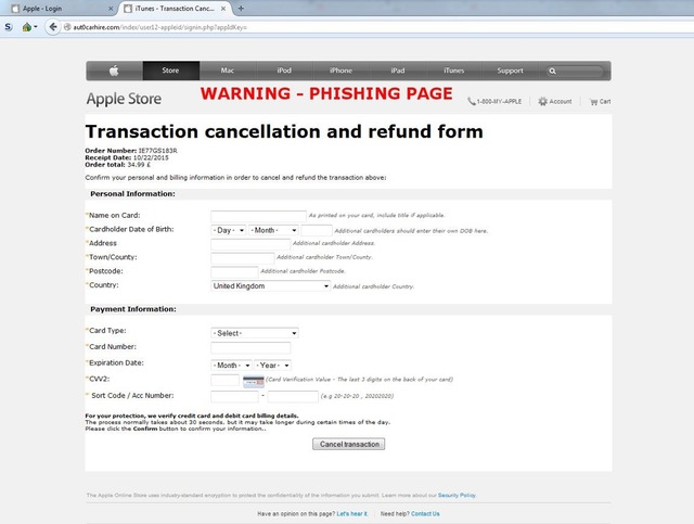 Apple-Phishing-Site