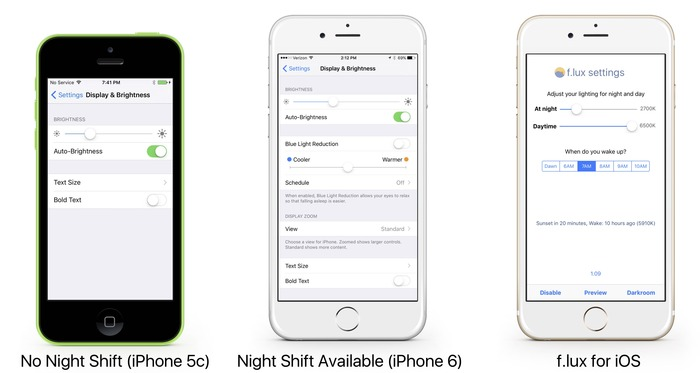 iPhone-5c-and-6-NIght-Shift-and-flux