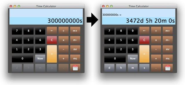 Time Calculatorの表示変換