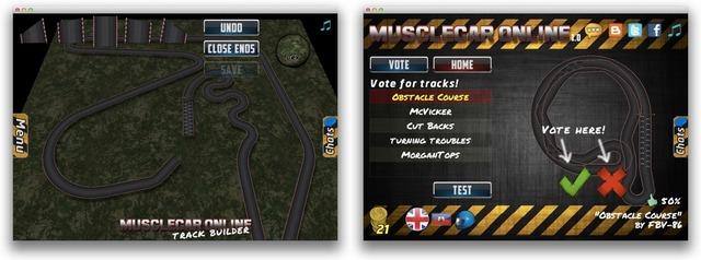 レースコース作成モードと評価