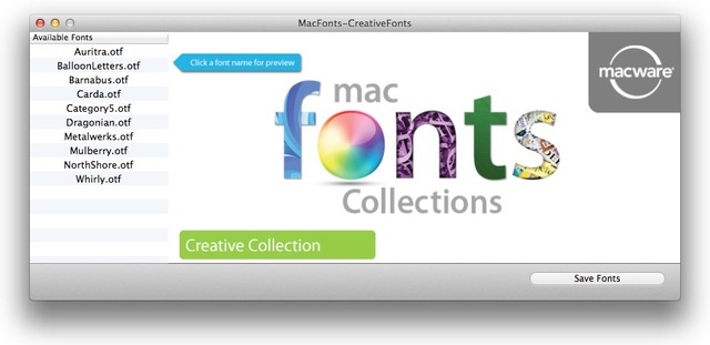 MacWareincのMac Fonts CreativeFonts