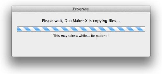 7-DiskMakerXがMavericksのインストールディスクを作成しています2