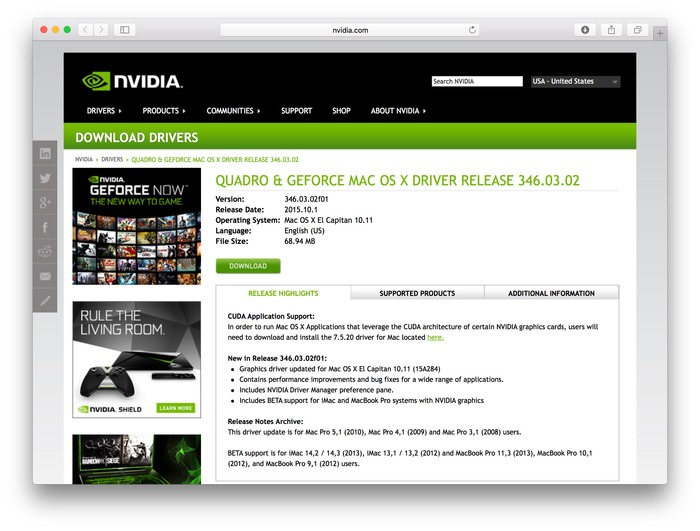 NVIDIA-Quadro-and-Geforce-Mac-OS-X-El-Capitan-Support