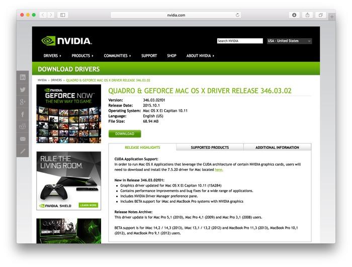 NVIDIA-Quadro-and-Geforce-Mac-OS-X-El-Capitan-Support