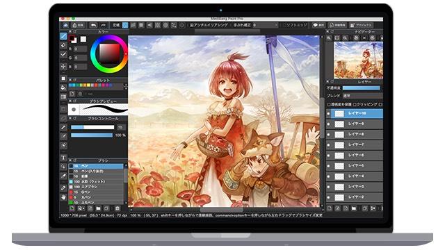 メディパンペイント-Pro-on-MacBook
