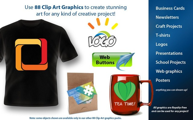 88 Awesome Cliparts Graphic