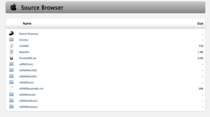 Apple-Open-Source-mDNSResponder