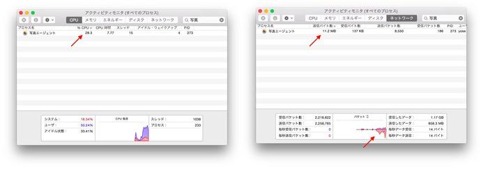 アクセシビリティモニタ-写真アプリ-CPU-ネットワーク