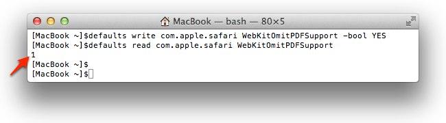 Safari WebKitOmitPDFSupport -bool YESでPDFファイルをダウンロード