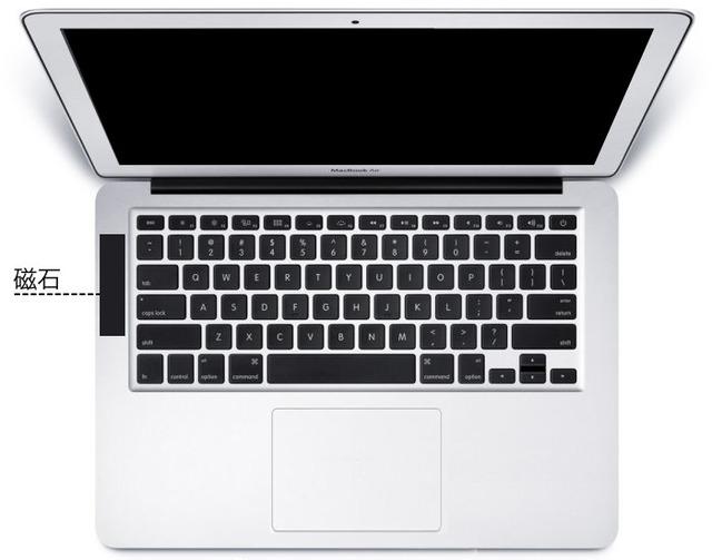 MacBook-Air-センサーに磁石