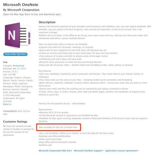 MS-OneNote-AppStore-Free