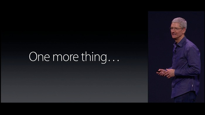 Tim Cook said One more thing…